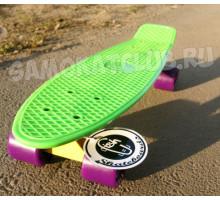 "Fish SkateBoards мини-круизер 22"" зеленый"