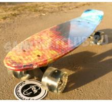"Fish SkateBoards Flame мини-круизер 22"" со светящимися колесами"