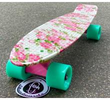 """Fish SkateBoards Flowers мини-круизер 22"""" с цветочками"""