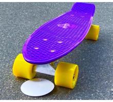 """Fish SkateBoards мини-круизер 22"""" фиолетовый с желтыми колесами"""
