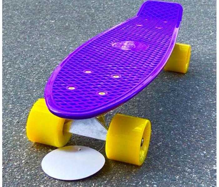 """Модный пластиковый скейт 22"""" Fish Skateboards фиолетовый"""