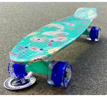 """Fish SkateBoards мини-круизер с узорами 22"""" колеса светятся"""