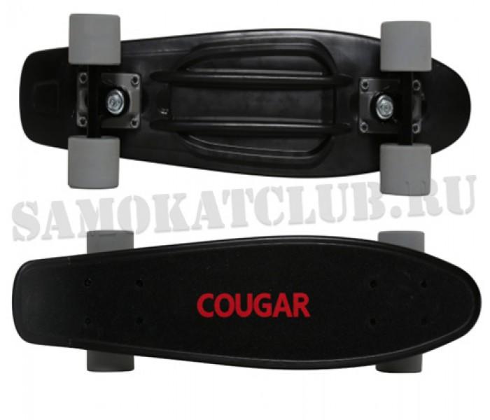 """Скейтборд COUGAR 22"""" черный"""