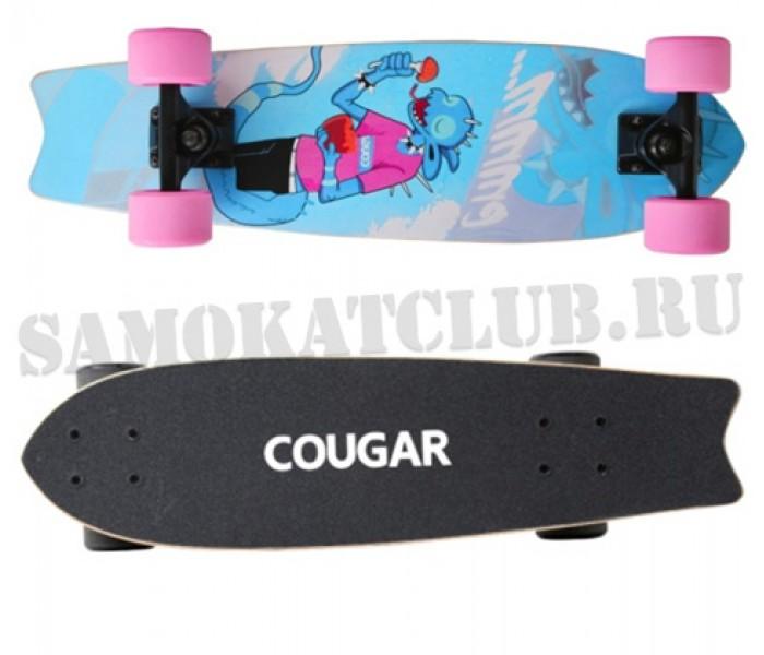 Скейтборд COUGAR 25 дюймов дерево (голубой)