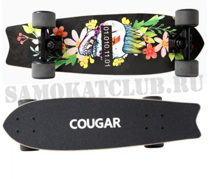 Скейтборд COUGAR 25 дюймов дерево (черный)