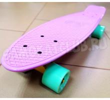 """Fish SkateBoards PASTEL мини-круизер 22"""" лиловый для девочек"""