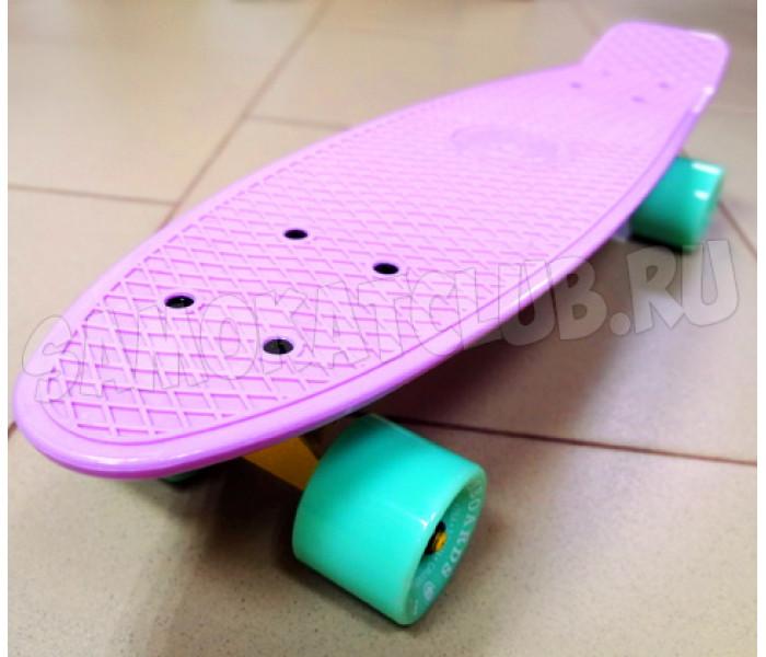 """Мини круизер 22"""" Fish Skateboards пастельный (лиловый)"""