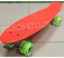 "Fish SkateBoards мини-круизер Orange 22"" со светящимися колесами"