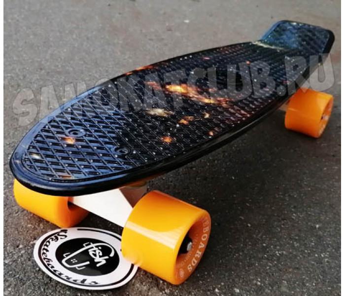 """Скейтборд пластиковый FISH 22"""" Космический"""