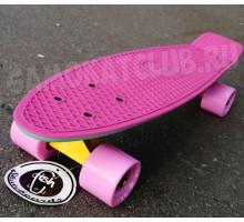 """Fish SkateBoards мини-круизер 22"""" Мятно-Розовый"""