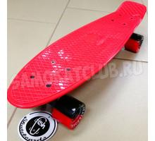 """Fish SkateBoards мини-круизер 22"""" красный с цветными колесами"""