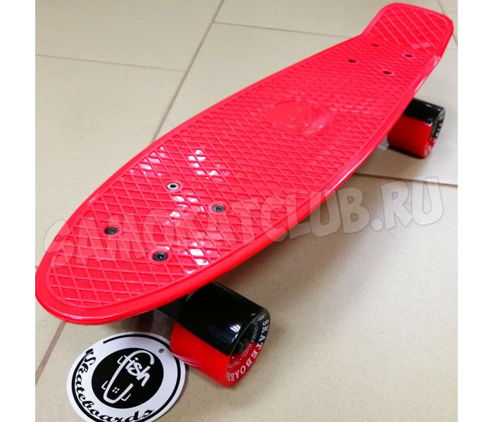 "Скейт Fish Skateboards 22"" Red/Black. Эксклюзивная серия"