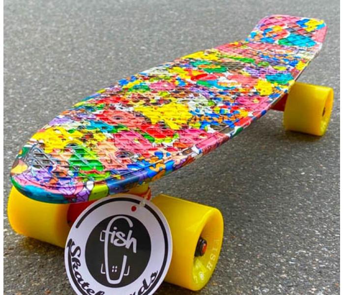 Мини-круизер Fish SkateBoards с рисунком покемоны
