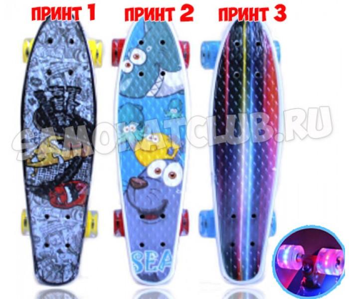 "Скейтборд Explore ULSTER 22"" (2017) с рисунком и светящимися колесами"