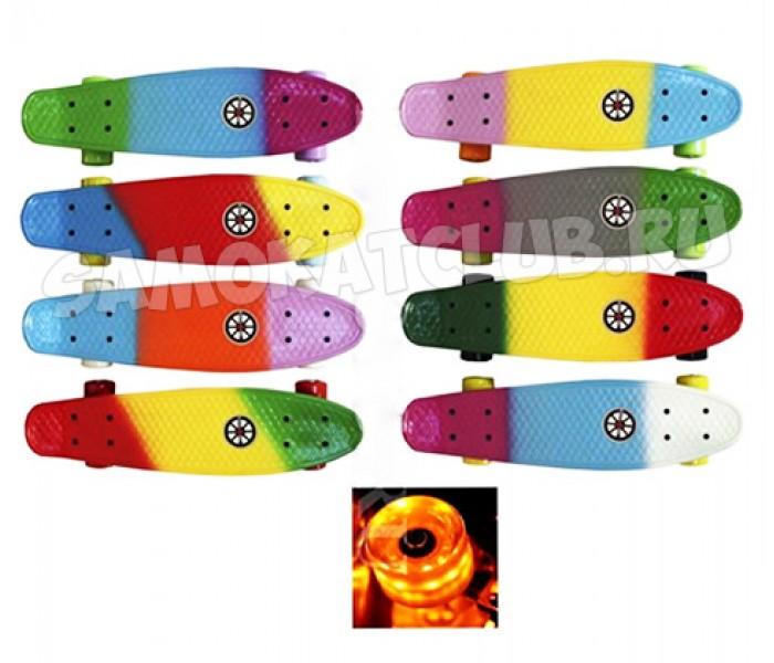 Скейтборд Explore VICTOR FLASH с рисунком и светящимися колесами