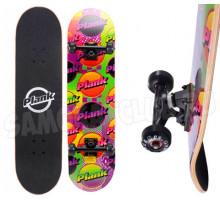 Трюковой скейт PLANK RETROLASER деревянный