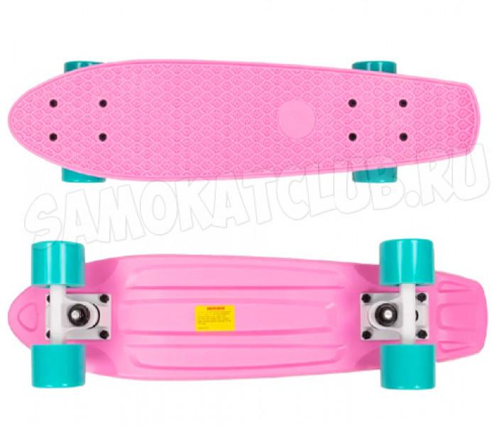 """Мини-круизер плстиковый PLANK 22"""" розовый"""
