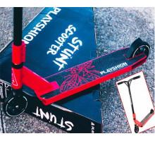 трюковой самокат Playshion PROBEE Y МАX (красный) + ЛЫЖИ в подарок!