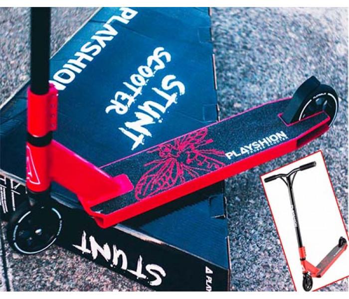 Самокат трюковый Playshion PROBEE Y МАX Red + ЛЫЖИ в подарок