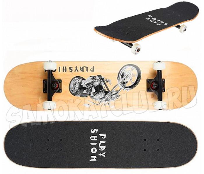 Скейтборд деревянный Playshion ART (Мото)