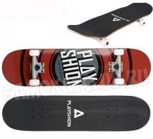 Скейтборд Playshion GUN (коричневый)
