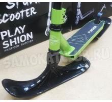 Самокат на лыжах PROTIGER-SNW Playshion 2018 (зеленый)
