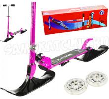 Самокат на лыжах BLUESKY-SNW Playshion фиолетовый (2в1)