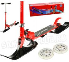 Самокат на лыжах BLUESKY-SNW Playshion красный (2в1)