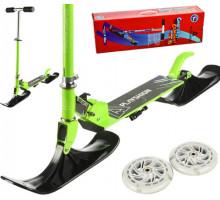 Самокат на лыжах BLUESKY-SNW Playshion 2019 зеленый (2в1)