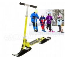 Снежный самокат STIGA Bike Snow Kick с лыжами (лимонный)