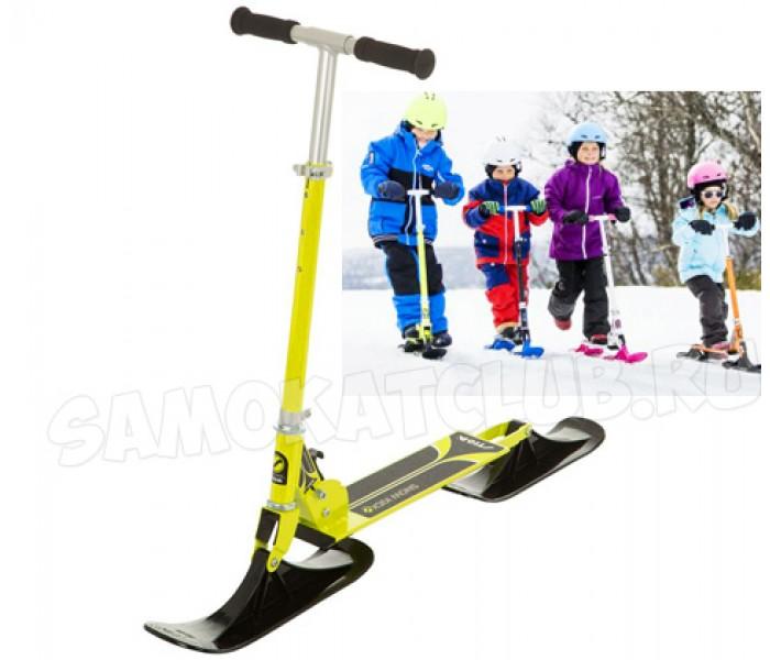 Зимний самокат для детей STIGA Bike Snow Kick лимонный