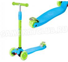 Самокат 3-х колесный RIDEX 3D Snappy 2.0 голубой/зеленый