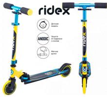 Самокат 2-х колесный RIDEX Rebel 125 мм, желтый/голубой