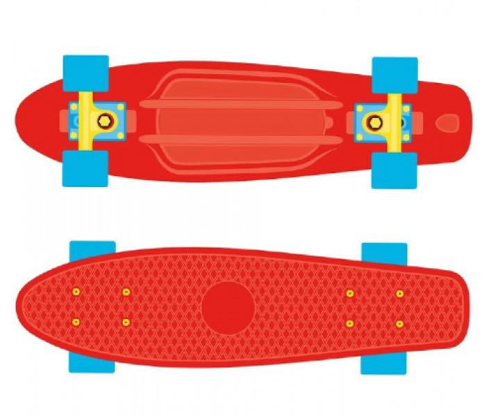 """Мини-круизер пластиковый RIDEX 17'x5"""" Popsicle красный"""