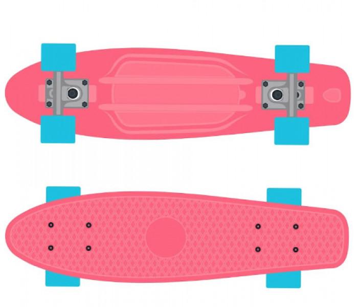 Мини-круизер пластиковый RIDEX Fluffy розовый