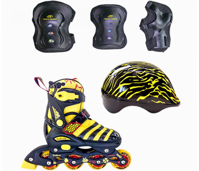 Ролики детские раздвижные с шлемом и защитой TT MAYA SET 2019