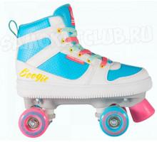 КВАДЫ TT Boogie-Woogie (Буги-Вуги) бело-голубые четырехколесные ролики