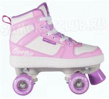 КВАДЫ TT Boogie-Woogie (Буги-Вуги) бело-розовые четырехколесные ролики