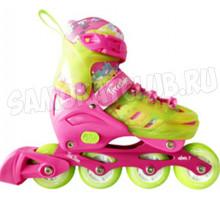 Tech Team TT Freestyler 2020 Ролики со светящимися колесами (розовые)