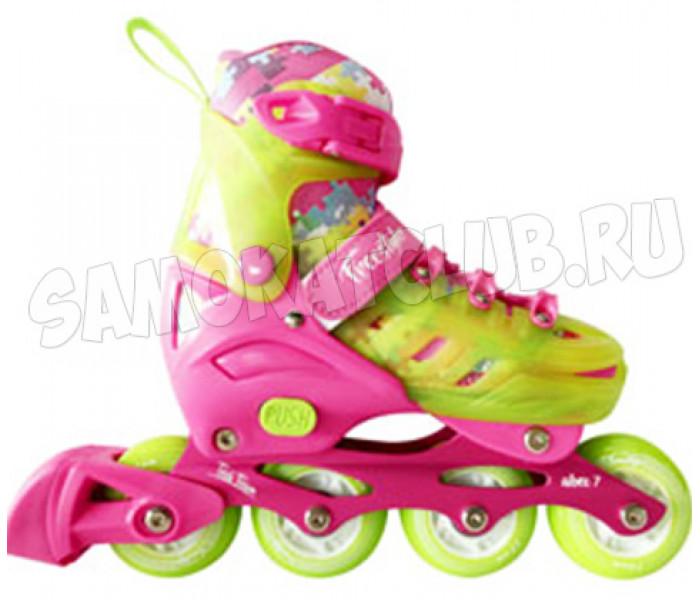 Раздвижные роликовые коньки TT Freestyler Pink (размеры 32-35, 36-39)