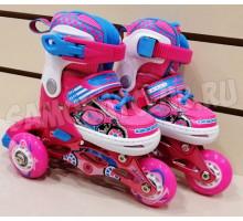 Роликовые коньки Explore KEDDO NEW (розовые) Размеры 26-29 и 30-33