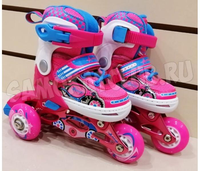 Детские ролики Explore KEDDO NEW  розовые. Размеры 26-29 и 30-33