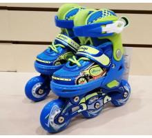Роликовые коньки Explore KEDDO NEW (синие) Размеры 26-29 и 30-33