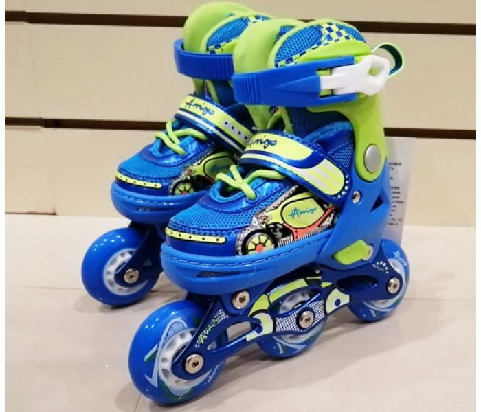 Детские ролики Explore KEDDO NEW (синие). Размеры 26-29 и 30-33