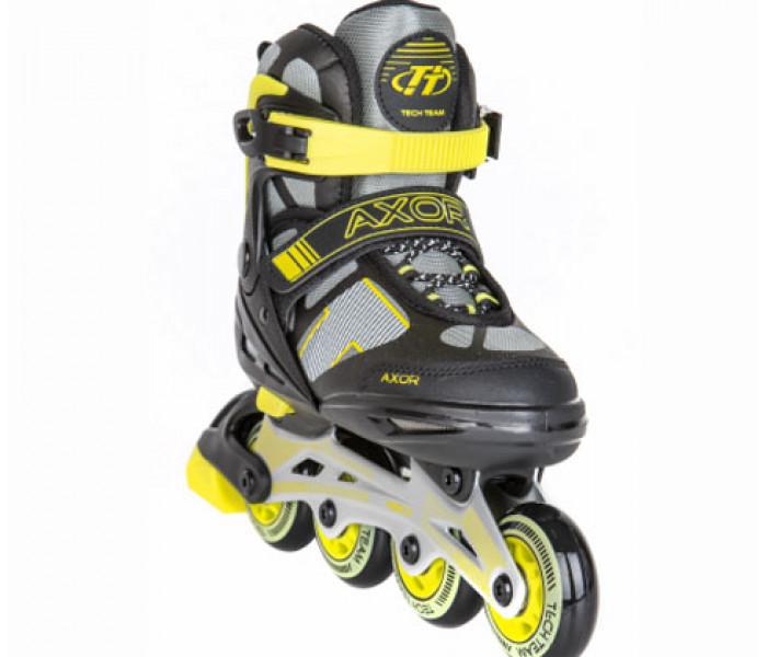Раздвижные роликовые коньки TT AXOR Yellow (размеры 34-37)