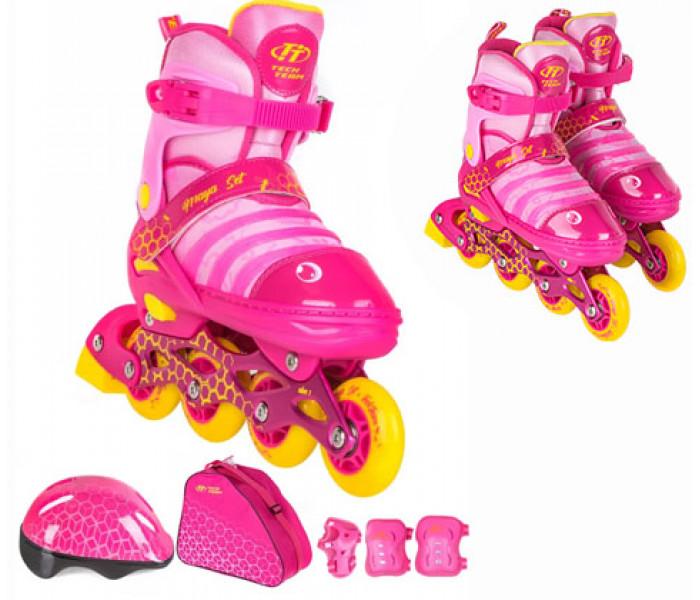 Ролики детские раздвижные с шлемом и защитой TT MAYA SET 2021г
