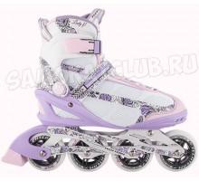 Ролики Tech Team TT Lady Fit розовые для девушек (размеры 37, 38)