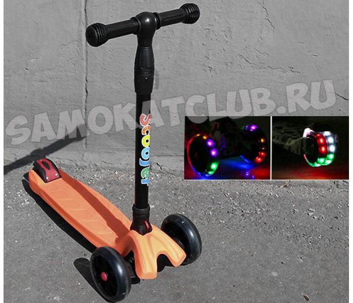 Детский трехколесный самокат 21st Scooter Maxi (Скутер Макси) для детей от 3-9 лет