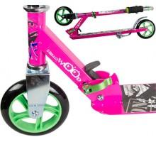 Самокат HELLO WOOD HW-145 Pink для девочек 5-10 лет