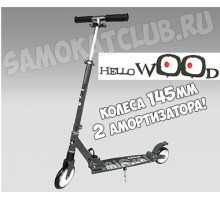 Самокат HELLO WOOD Micron ST1 Graphite